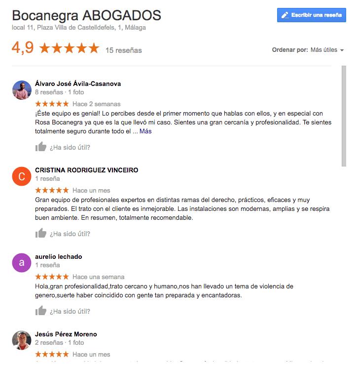 Opiniones de Abogados Málaga