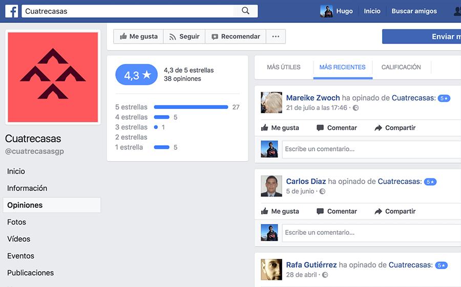 Opiniones Página de Facebook Abogados