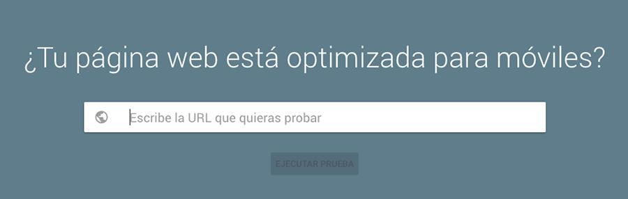 Página web optimizada para móviles